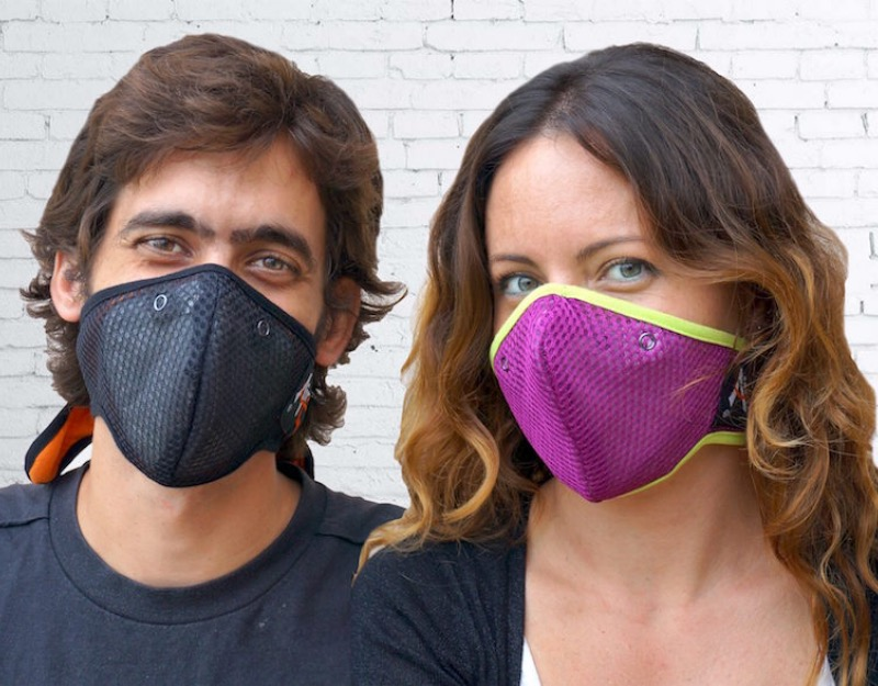 Anti pollution Hanu Mask two Models black fuchsia