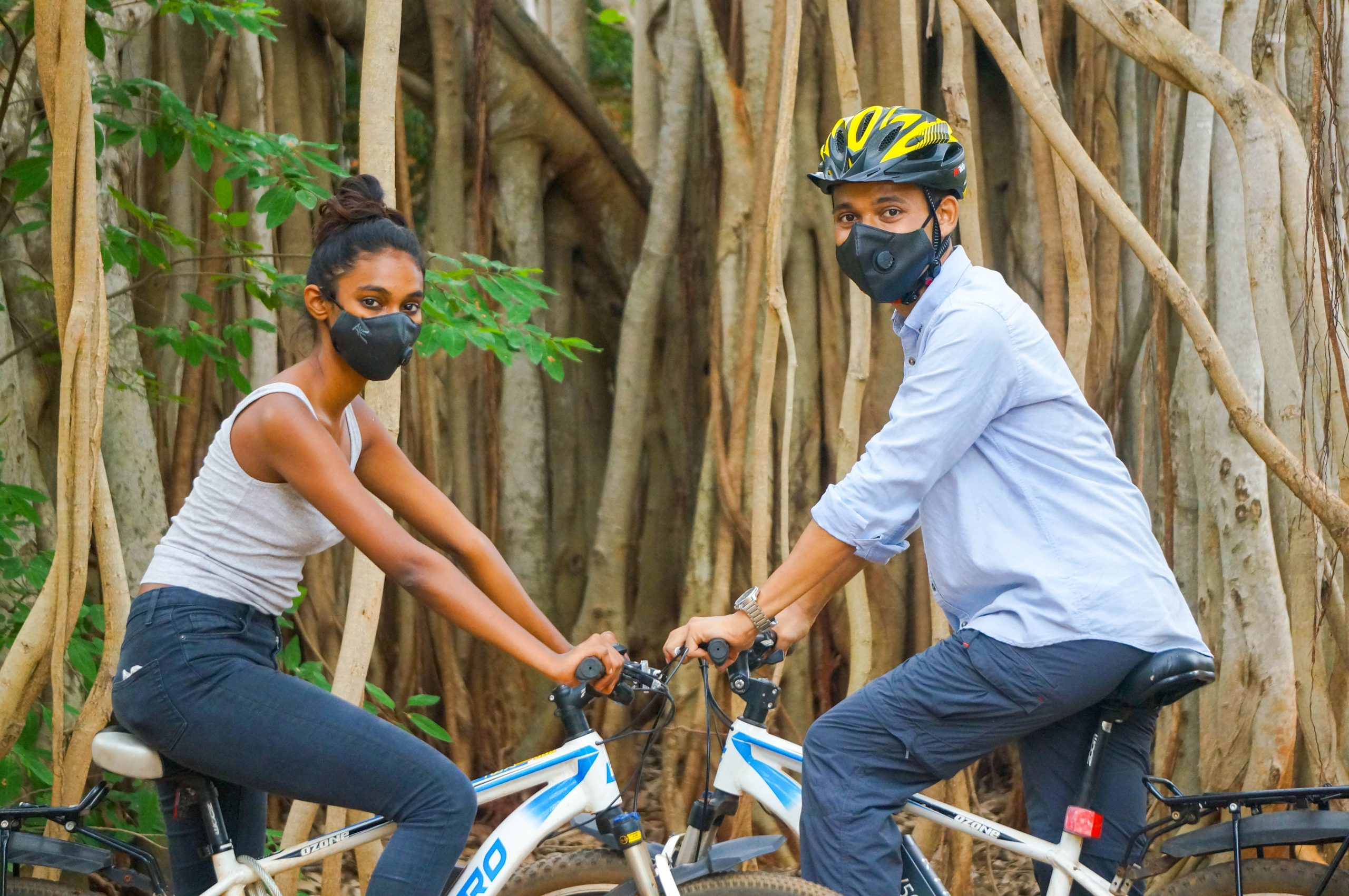 Sports masks with exhalation valve for better breathing