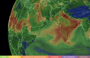 Mapping of air threat levels in India